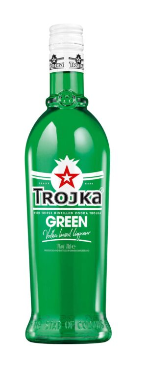 Trojka Vodka Green Vodka Liqueur 17% Vol. 70 cl