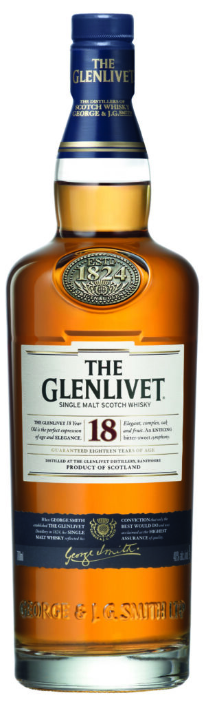 The Glenlivet 18 years old Pure Single Malt Whisky 43% Vol. 70 cl
