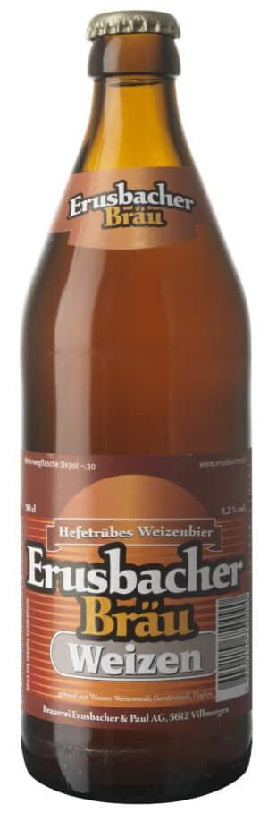 Erusbacher Weizen Bier Aargau 5,2% Vol. 20 x 50 cl MW Flasche
