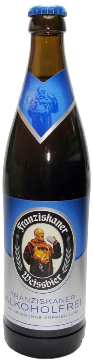 Franziskaner alkoholfrei Hefe-Weissbier 20 x 50 cl MW Flasche