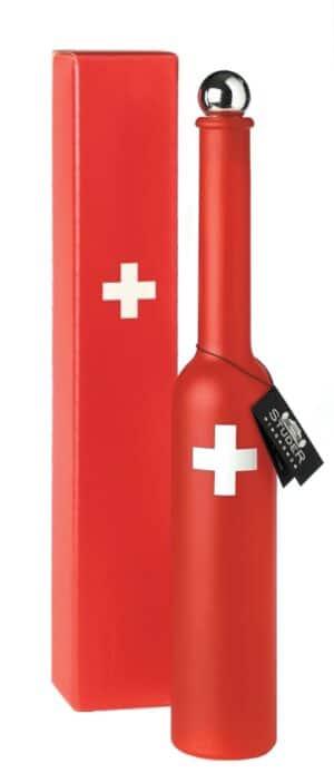 Studer Kirsch vieux Swiss Rote Flasche mit CH-Kreuz 41% Vol. 20 cl