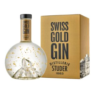 Studer Swiss Gold Gin Matterhorn mit 22 Karat Goldflitter 40% Vol. 70 cl