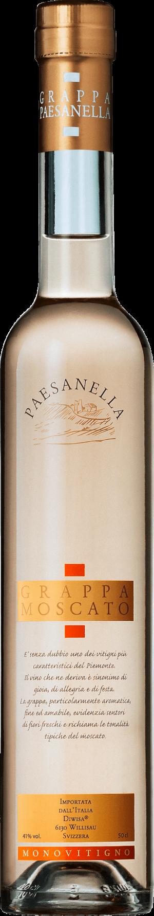 Grappa Moscato Paesanella 41% Vol. 50 cl