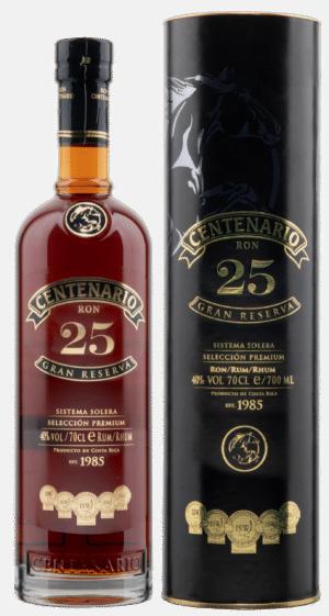 Rum Centenario 25 Años Gran Reserva Solera Costa Rica 40% Vol. 70cl