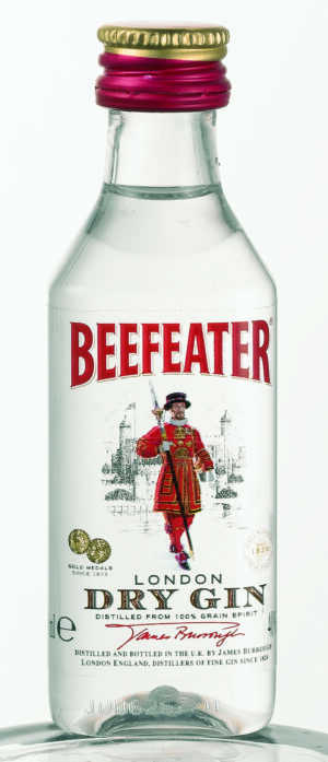 Gin Dry Beefeater 40% 12 x 5 cl Port.