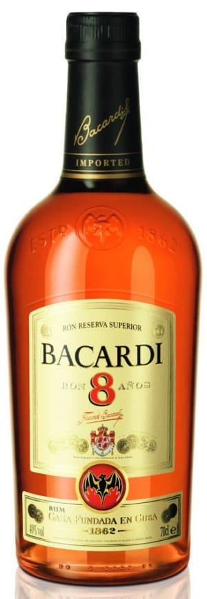 Rum Bacardi 8 Años Reserva Superior 40% Vol. 70 cl Bahamas