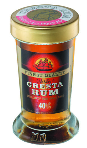 Rum Parkers Cresta 40% Vol. 24 x 2 cl Portion Trinkglas