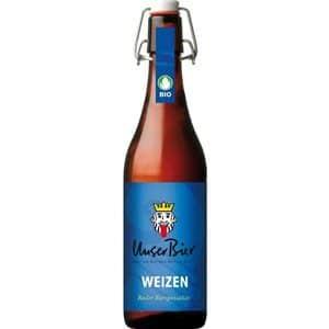 Unser Bier Weizen 5% Vol. 6 x 50 cl MW Bügelflasche