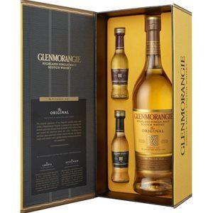 Glenmorangie Pioneer Set mit 1 Flasche Original Single Malt 10 Years und 2 Fläschchen à 5 cl Lasanta und Quinta Ruban 40% Vol. 70 cl