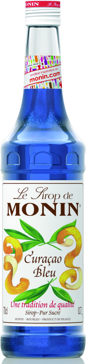 Curaçao bleu Monin Premium Sirup alkoholfrei 70 cl