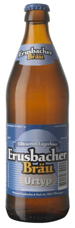 Erusbacher Bräu Urtyp Bier Aargau  4,9% Vol. 6 x 50 cl MW Flasche