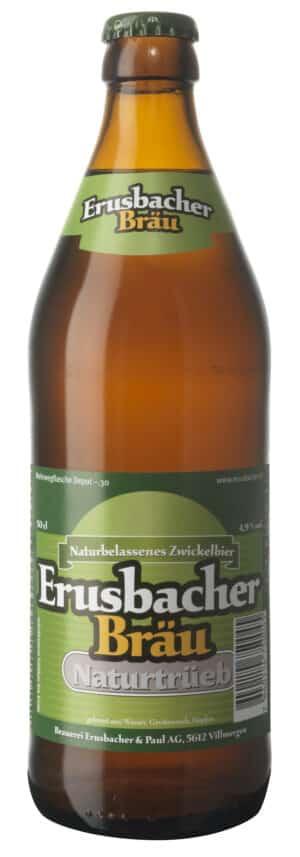 Erusbacher Naturtrüeb Bier Aargau 4,9% Vol. 6 x 50 cl MW Flasche