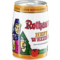 Rothaus Hefe-Weizenbier 5,4% Vol. 5 L Original Party-Fässli