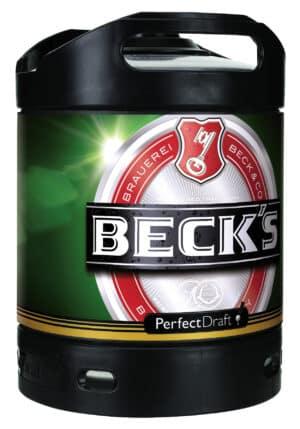 Beck's Bier Perfect Draft 6 Liter Fässli ( für Philips Perfect Draft-Anlage )