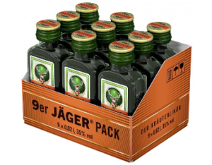 Jägermeister 35% Vol. 9 x 2 cl