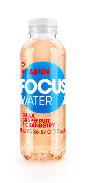 Focus water relax Grapefruit und Cranberry mit Hibiskusblüten Extrakt 12 x 50 cl Pet