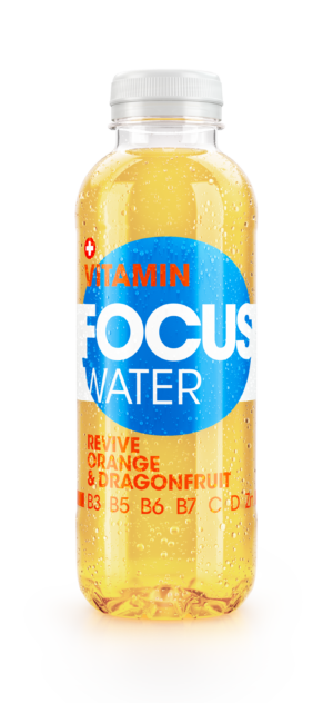 Focus water Revive Orange und Drachenfrucht mit Ginseng Extrakt 12 x 50 cl Pet