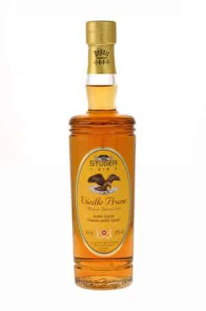 Studer Vieille Prune 42% Vol. 35 cl mit echtem Goldflitter, 22 Karat Réserve Baron Louis ( in Geschenkdose )