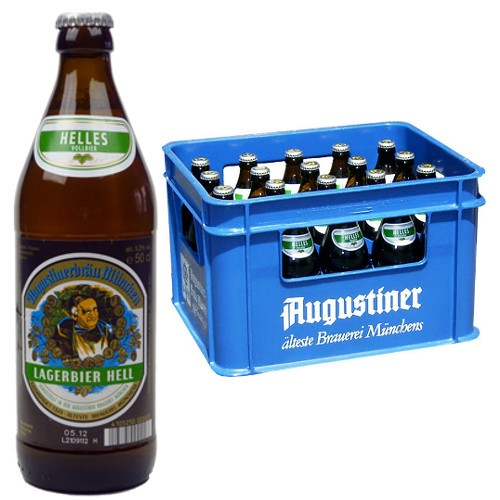 Augustiner Bier Lager hell 5,2% Vol. 20 x 50 cl MW Flasche