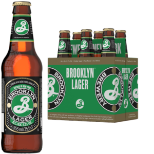 BROOKLYN Lager Bier 5,0% Vol. 24 x 35,5 cl EW Flasche