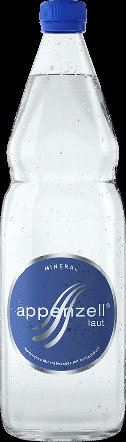 Appenzell Mineral laut mit Kohlensäure 12 x 100 cl MW Flasche