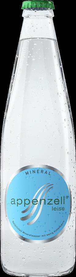 Appenzell Mineral leise, grün mit wenig Kohlensäure, 24 x 33 cl MW Flasche