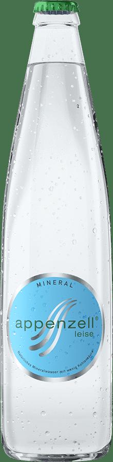 Appenzell Mineral leise, grün mit wenig Kohlensäure, 20 x 50 cl MW Flasche
