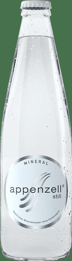 Appenzell Mineral still, weiss ohne Kohlensäure, 24 x 33 cl MW Flasche