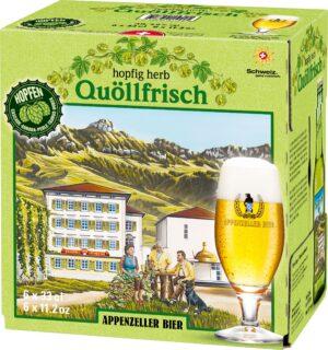 Appenzeller Quöllfrisch HOPFIG HERB 6 x 33 cl EW Flasche