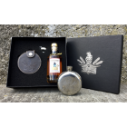 Säntis Malt Whisky Set mit Flachmann und Edition Marwees Whisky 18% Vol. 20 cl