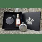 Säntis Malt Whisky Set mit Flachmann und Edition Marwees Whisky 18% Vol. 20 cl