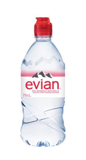 Evian 6 x 75 cl PET mit Sportverschluss