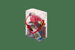 Polterabend Mini Shot Handtäschchen mit verschiedenen Shot`s 10 x 2 cl