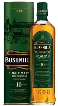 Bushmills Single Malt 10 Years 40% Vol. 70 cl Irland