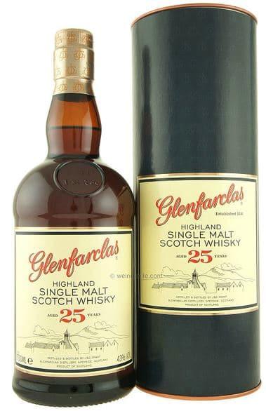 Glenfarclas 25 Years old Scotch Pure Malt Whisky 43% Vol. 70 cl