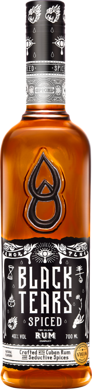 Black Tears Cuban Dry Spiced Rum 35% Vol. 70 cl Kuba