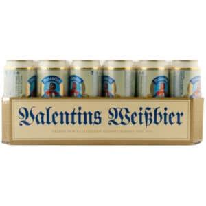 Valentins Premium Hefeweissbier Hefetrüb 24 x 50 cl Dose