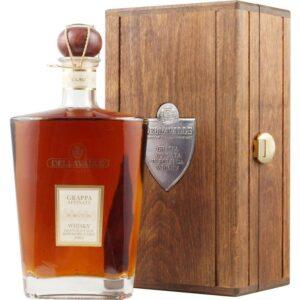 Grappa Dellavalle Affinata Whisky Barrique 42% Vol. 70 cl mit Holzkistchen