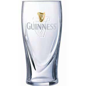 6 Guinness Pint Biergläser mit je 5 dl