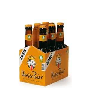 Unser Bier Amber 5% Vol. 6 x 33 cl EW Flasche