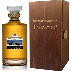 Langatun Winter Wedding Whisky Swiss Premium mit Holzkiste 46% Vol. 50 cl