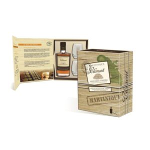 Rum Clément 10 years 40% Vol. 70 cl Martinique Geschenkpackung mit 2 Gläsern