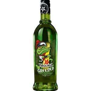Trojka Greench Likör Hot-Drink mit Pfefferminznote 17% Vol. 70 cl