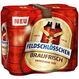Feldschlösschen Braufrisch 5% Vol. 6 x 50 cl Dose