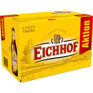 Eichhof Lager 4,8% Vol. 15 x 33 cl EW Flasche