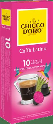 chicco d'oro caffè latino Caffè Kapseln 10 Pakete mit je 10 Kapseln