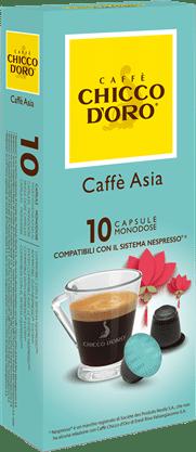 chicco d'oro caffè asia Caffè Kapseln 10 Pakete mit je 10 Kapseln