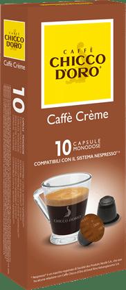 chicco d'oro caffè crème Caffè Kapseln 10 Pakete mit je 10 Kapseln