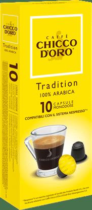 chicco d'oro tradition arabica Caffè Kapseln 10 Pakete mit je 10 Kapseln