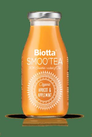 Biotta Smoo`Tea Aprikosen & Apfelminze 6 x  25 cl EW Glas